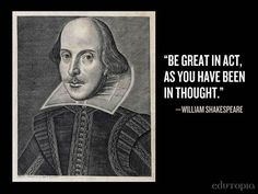 Great quote from The Bard.