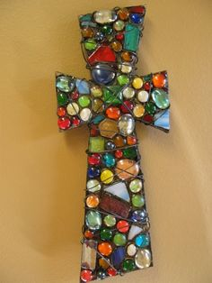 Mosaic Wire Cross