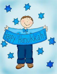 Hanukkah Boy color | Dearie Dolls Digi Stamps