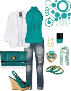 Dark Turquoise Outfit