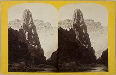 John K. Hillers, Marble Pinnacle, c 1875 Series/Book Title: Views on Kanab Creek, No. 57., Harvard Art Museums/Fogg Museum. art museumsfogg, museumsfogg museum, marbl