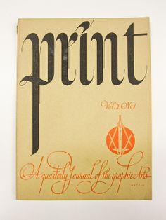 Calligrapher: William Metzig   Cover of Print Magazine Vol 2, # 1, 1941