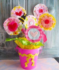 Valentine flowerpot by Laurie Star, via Flickr