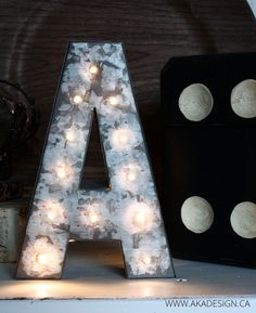 DIY: mini marquee letter hack