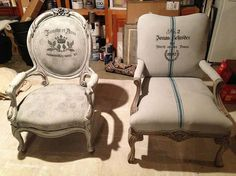 Painting fabric upholstery with Annie Sloan Chalk Paint :: Hometalk
