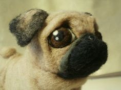 Custom Needle Felted Pug Dog or Any Dog Your Choice OOAK Pet Portrait Lacharmour | eBay