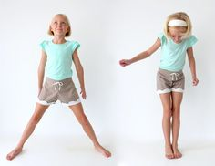 scalloped + lined KID SHORTS tutorial // MADE