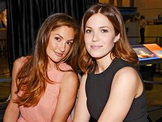 Star Tracks: Thursday, February 27, 2014 | SITTING PRETTY | Minka Kelly and Mandy Moore rub elbows during The Lourdes Foundation Leadership in the 21st Century luncheon for His Holiness the Dalai Lama on Wednesday in L.A.