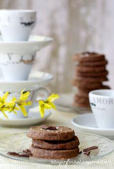 Chocolate Hazelnut {Nutella} Shortbread - {a simple slice and bake shortbread!!}