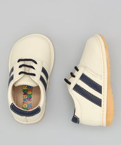 Navy & Cream #Shoe by Squaker Sneakers on #zulily