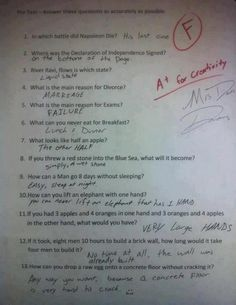 Very Funny Question and Answers