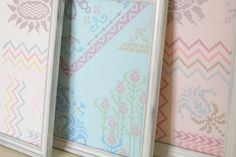 Cross-stitch-patterned fabric!  Lououthi Needleworks by Anna Maria Horner.