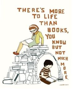 """""""There's more to life than books..."""" Morrissey quote on print by The Black Apple"""