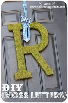 DIY your own moss letters and save money! thecraftingchicks.com #moss #letter #craftingchicks