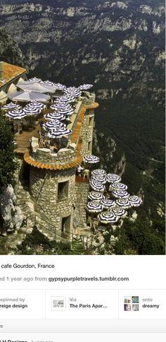 Cliffside Cafe Gourdon France