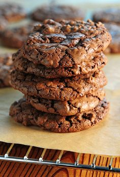 Easy Double Chocolate Crackled Cookies with a little bit of heat.