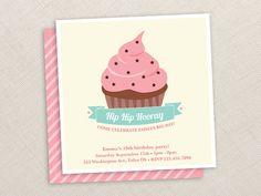 Cupcake Invitation  Cupcake birthday  Pink  Girl  by EllisonReed, $18.00 #dteam