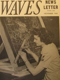 WAVES Newsletter, November 1945. #vintage #1940s #WW2 #women