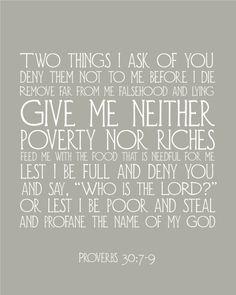 Printable bible verses.  Proverbs 30:7-9