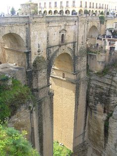 Ronda - the bridge between New and Old Ronda in Spain (Andalusia),