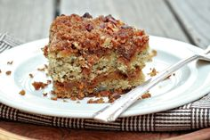 Best recipe ever for using up old bananas.....Banana Cinnamon Chip Coffee Cake.