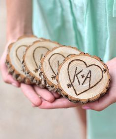 These are cute! :: Tree Initial Coaster Set