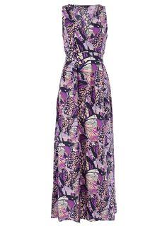 Purple butterfly print maxi  #Dorothy_Perkins