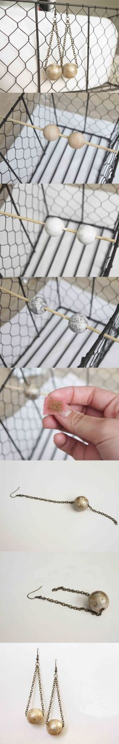 DIY: Gorgeous Gilded Earrings