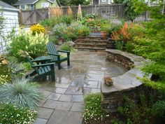Lovely paved patio.