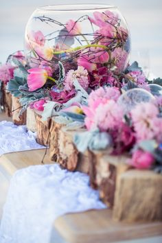 flowers in and out of glass vases - Just For You Photography - http://ruffledblog.com/ruffled_galleries/winter-wonderland-inspiration-shoot/winter26-2/