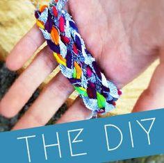 DIY Braided Denim Bracelets