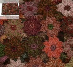 Sophie Digard flower crochet scarf - zoom view
