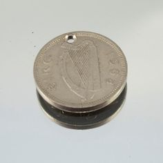 Ireland 3 Pingin 1/2 Reul Copper Coin Bead by springfieldleather, $1.99