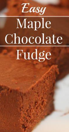 Maple Chocolate Fudg