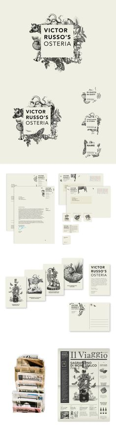Total Identity design for Victor Russo's Osteria