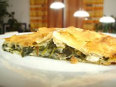 Byrek is a salted pie wich made of cheese,spinach, tomato, meat etc