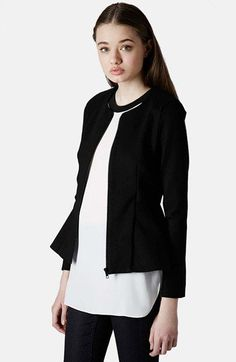 Topshop Tailored Peplum Jacket available at #Nordstrom