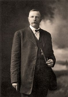 Bud Ledbetter, shown in this never-before-published photograph, gained a reputation for his gunfighting skills, especially after the deputy U.S. marshal assisted in bringing in four members of the train robbing Al Jennings Gang in 1897.  – Courtesy Robert G. McCubbin Collection –