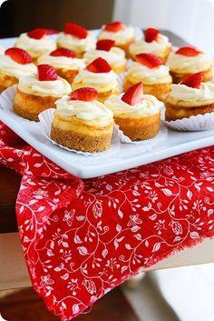 Mini Berry Cheesecakes http://www.thecomfortofcooking.com/2012/07/mini-berry-cheesecakes.html