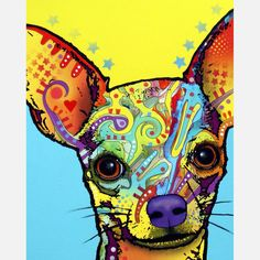 Chihuahua. by misslynn78 via Dean Russo. Chihuahua lovers will adore this print by Dean Russo. Captivating eyes and eclectic hues make this a soulful piece for your wall.