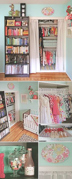 closet organization for nursery