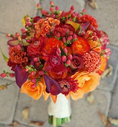 Colorful bouquet for late summer/fall wedding