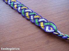 Friendship bracelet tutorial- actually a design that I'd never seen.