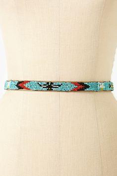 Tucson Beaded Belt in Turquoise
