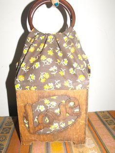 hippie wooden bag