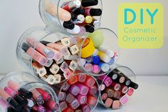 Cute #DIY organizer for lip gloss, liners and mascara!