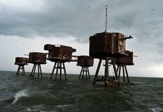 The Maunsell Sea Forts in England--After the war, the forts were abandoned and Great Nore was demolished in 1958. Red Sand Fort which is off the coast at Whitstable was used in the 1960's as a pirate radio station. Three other forts of similar design were built in the Mersey to protect Liverpool.