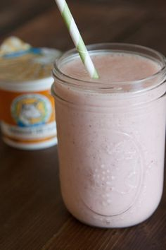Coconut Strawberry Banana Smoothie with Goat's Milk Yogurt