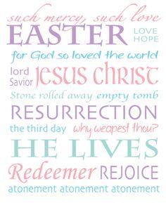 Easter Subway Art by Allison  |  SugarDoodle.net