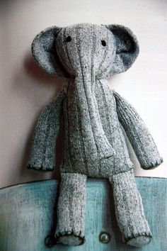 sock elephant - almost as cute as a sock monkey and still very much needed :)